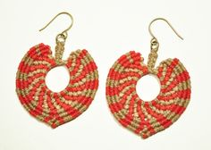 knotted heart earrings by amiramednick on Etsy $38.00