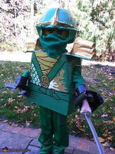 Ashley My son loves all things Lego and especially all things Ninjago so he decided he wanted to be the Green Ninja (Lloyd Garmadon) for Halloween. & LEGO Ninjago: Jay Kai u0026 Lloyd - Halloween Costume Contest at ...