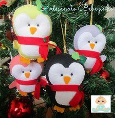 Artesanato Bebezinho: Pinguins de Natal