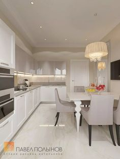 Современная и уютная кухня в стиле неоклассика