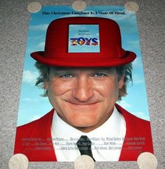 TOYS Movie Poster One Sheet Robin Williams Robin Wright Penn Barry Levinson