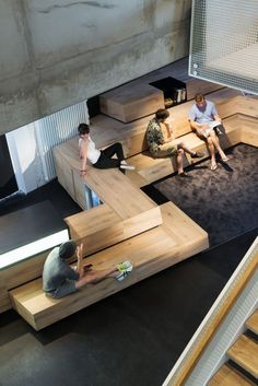 Gallery of New Soundcloud Headquarters / KINZO Berlin - 13 - 共享空间 - Zimmereinrichtung Interior Concept, Cafe Interior, Library Design, Cafe Design, Architecture Concept Drawings, Architecture Design, Types Of Stairs, Stadium Seats, Clinic Design
