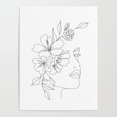 Line Drawing, Drawing Ideas, Abstract Line Art, Aesthetic Drawing, Plant Illustration, Diy Frame, Plant Stem, Face Art, Woman Face