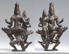 Rare Figure of Vishnu and Lakshmi, Lakshminarayana sold by Christie's, New York, on Thursday, September 23, 2004