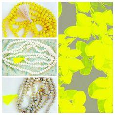 Giallo grigio bianco e fluo collane Yellow Grey White And Fluo necklaces