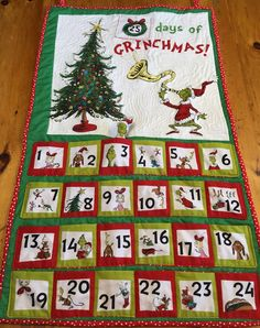 #Grinch Advent calendar I really enjoyed making.  I love the moveable stuffed Grinch this will be very fun for kids of all a! Look in number 3 for the stuffed Grinch
