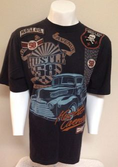 Hustle Avenue Car Lovers XXL Tee T-Shirt 2XL #HustleAve #GraphicTee