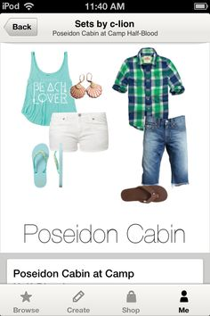 Son and Daughter of Poseidon outfits. I made this! -Caroline.