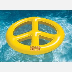Peace sign float