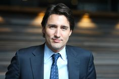 Canada's Prime Minister Justin Trudeau, 43 years old. Son of Canada's Prime Minister Pierre Trudeau, he was born during his father's time in office.