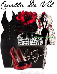 """Cruella De Vil"" by disney-villains ❤ liked on Polyvore"