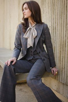 Plaid Suiting Stanford Jacket + Coleen 2 Vest + Charlie Pant. Business chic.