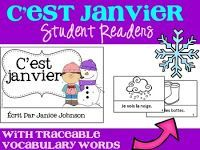 **FREEBIE* C'est janvier ~ French January Readers {livre en français} Free French Lessons, Free In French, Core French, French Class, French Teaching Resources, Teaching French, Language Immersion, French Worksheets, French Kids