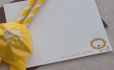 Lion Letterpress Baby Announcements by Pink Orchid Press via Oh So Beautiful Paper (4)