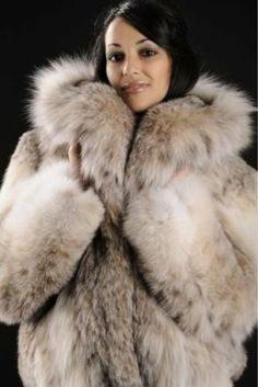 Snuggly Lynx  More Men's and Women's Fur Fashion Looks On @anandco #furfashion #furonline  Add, Pin, Share!