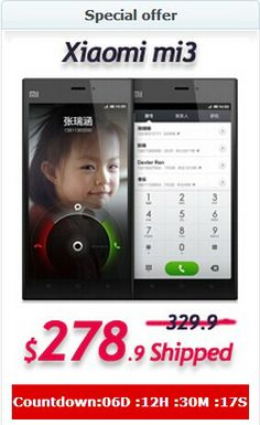 [Special offer]$51 Off for XIAOMI 3 WCDMA Smartphone 16GB Version! Now Only $278.90 !