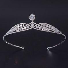 HG621 Full CZ Tiara Crown Bridal Wedding Hair Jewelry Pageant Crystal Headpiece