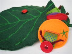 Threading game - very hungry caterpillar . Educational toy, felt, quiet toy