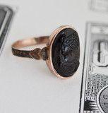 1850s Chalcedony Cameo Ring   Erica Weiner
