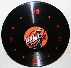 COCA COLA Inspired Vinyl Record Wall Clock by PandorasRecordArt, $25.00