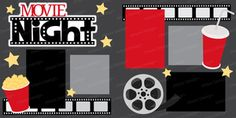 Movie Night Scrapbook Page Layout