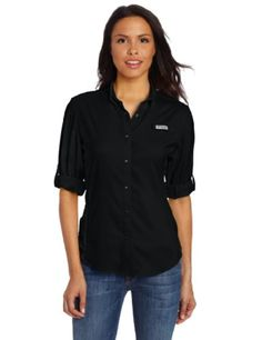 Columbia Women's Tamiami II Long Sleeve Shirt, X-Small, Black - Brought to you by Avarsha.com
