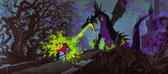 Sleeping Beauty's Malicifent as dragon via www.Facebook.com/PurpleIsWho