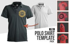 Mens polo shirt mockup template psd