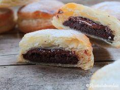 Finti Bomboloni di Pasta Sfoglia con Pan di Stelle e Nutella