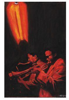 Davis&Coltrane  by Roni Kane
