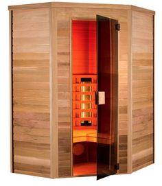 Sauna Infrarouge Multiwave 130P - 3 places Angulaire Holl's. Fitmarina.com Sauna Infrarouge, Tall Cabinet Storage, Places, Saunas, Design, Furniture, Home Decor, Woodwork, Homemade Sauna