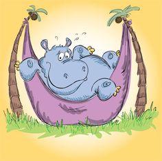 Hippo In A Hammock
