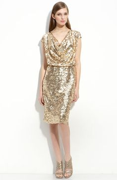 gold sequin dress...I love this simple sparkle dress for the holidays. 195c79c0064