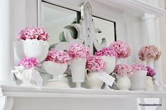 Mantel Decorating Ideas...this site has so many different ways to decorate a mantel on a budget!