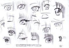 Anime Drawing Tutorial How to draw Manga eyes -references Sketch by MangaAnimeLover on deviantART - Girl Eyes Drawing, Anime Face Drawing, Best Anime Drawings, Realistic Eye Drawing, Art Drawings, Manga Anime, Manga Eyes, Anime Eyes, Manga Art