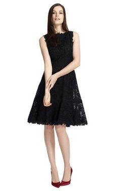 Beautiful rose embroided Valentino LBD.