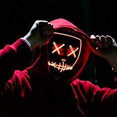 Halloween Maske videos Halloween Mask LED Purge Light Up Party Masks Neon Glow In Dark Horror Maska Cosplay Mascara Mascarillas Maske Halloween, Up Halloween, Halloween Costumes, Halloween Halloween, Dark Mask, Purge Mask, Glow Mask, Neon Glow, Mask Party