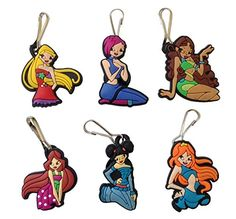 Winx Club Snap Hook Zipper Pulls 6 Pcs Set 1 >>> Click image for more details.Note:It is affiliate link to Amazon.