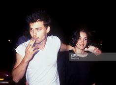 Johnny Depp and Winona Ryder in Los Angeles, California