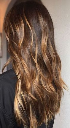 caramel brunette hair color idea