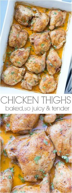 Amazing recipe for baked chicken thighs.