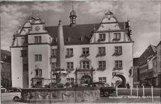 Darmstadt - Rathaus und Marktbrunnen - 1961