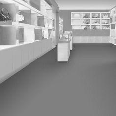 Interface carpet tile: Composure Color: Transcribe 303007 Installation method: Non Directional                Room scene: Shop