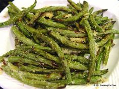 Dress up those green beans. Roasting always brings out the taste of veggies. Add some fresh grated Parmesan cheese and you have some easy side dish heaven.