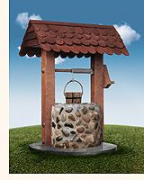 Photo about Wishing well on grassy hill with blue sky. Image of dreams, superstition, wishing - 1143561 Jack And Jill, Water Well, Garden Club, Photoshop Effects, Wishing Well, Commercial Design, Anime Art Girl, Go Green, Horticulture