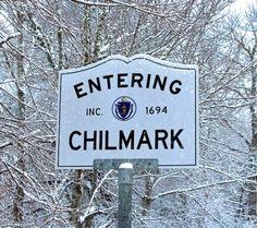 Chilmark Sign - Winter