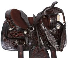 16 17 WESTERN LEATHER BARREL RACING RACER PLEASURE TRAIL HORSE SADDLE TACK | Sporting Goods, Outdoor Sports, Equestrian | eBay!