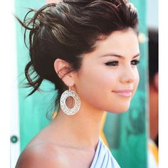 Selena Gomez updo @Christina & Dezuanni for maid of honor hair