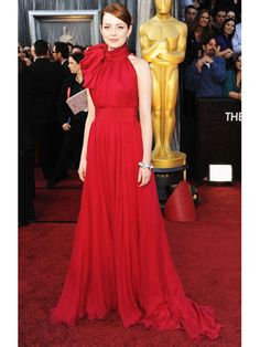 Emma Stone, Oscars 2012 Fashion - Oscars 2012 Red Carpet Dresses - Marie Claire