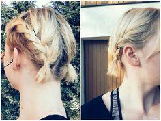 Growing out a pixie cut | cute pigtails |  braids